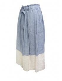 Plantation blue and white crêpe effect skirt buy online