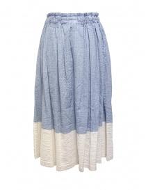 Plantation blue and white crêpe effect skirt price