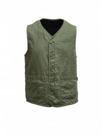 Womens vests online: Plantation green/blue double-sided vest