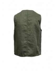 Plantation gilet double-face verde/blu