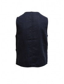 Plantation gilet double-face blu/blu navy