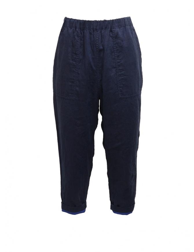 Plantation pantaloni double-face blu/blu navy PL07FF919-13 NAVY pantaloni donna online shopping