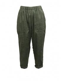 Pantaloni donna online: Plantation pantalone double-face verde/blu