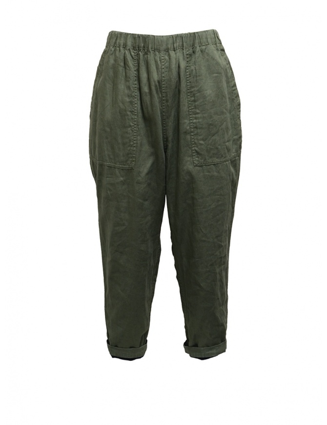 Plantation double-face green/blue pants PL07FF919-09 GREEN womens trousers online shopping