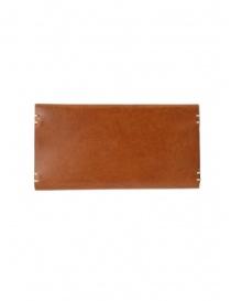 Feit portafoglio lungo in pelle marrone online