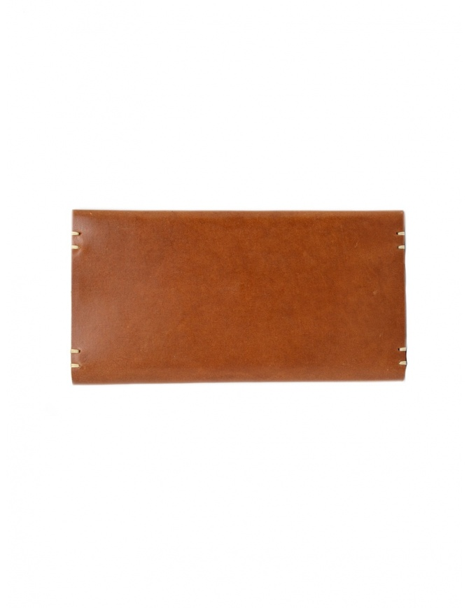 Feit long brown leather wallet AUWTWRL TAN H.S.RECTANGLE wallets online shopping