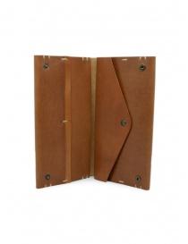 Feit portafoglio lungo in pelle marrone portafogli prezzo