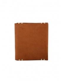 Feit portafoglio quadrato in pelle marrone online