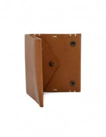Feit portafoglio quadrato in pelle marrone portafogli acquista online