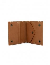 Feit portafoglio quadrato in pelle marrone