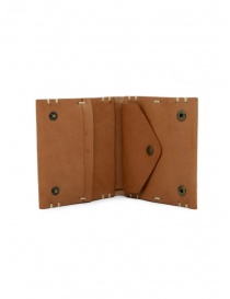 Feit square brown leather wallet