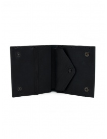 Feit square black leather wallet