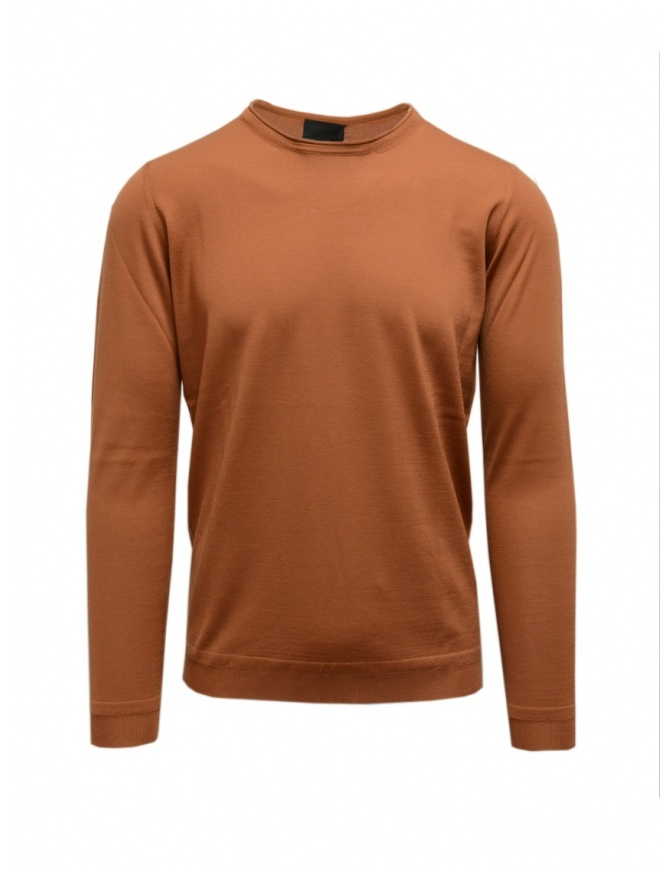 Goes Botanical bronze long sleeve sweater 101 5460 BRONZO mens knitwear online shopping