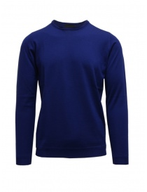 Mens knitwear online: Goes Botanical teal blue long sleeve sweater