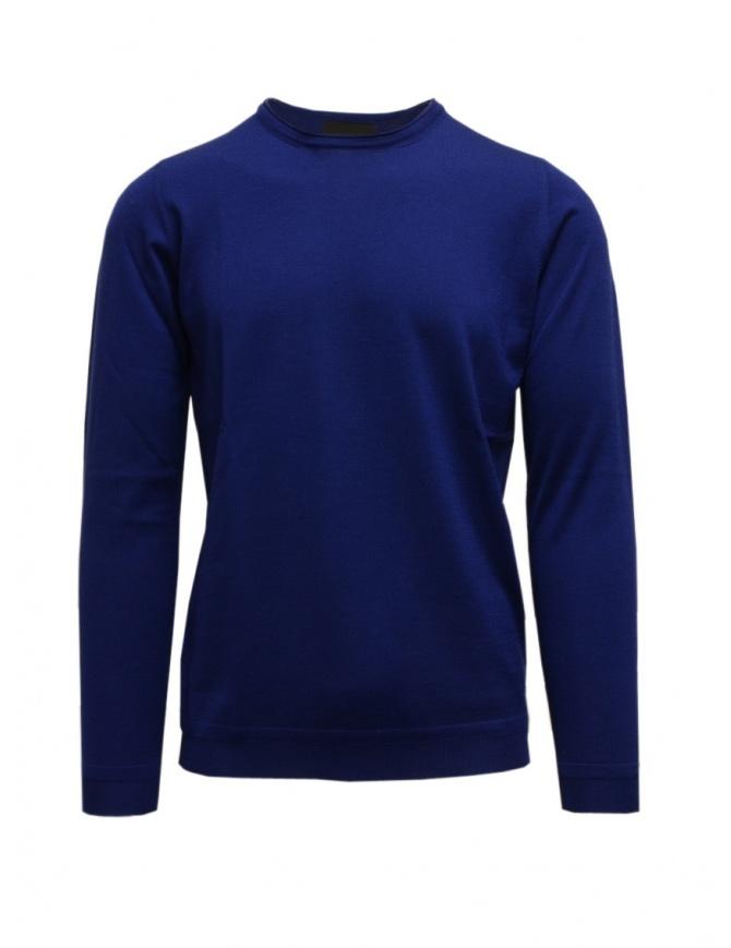 Goes Botanical maglia manica lunga blu ottanio 101 3342 OTTANIO maglieria uomo online shopping