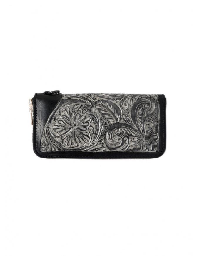 Gaiede portafogli in cuoio nero decorato in argento ATCW001 BLACKxSILVER portafogli online shopping