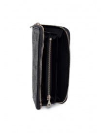 Gaiede black leather wallet decorated in silver price
