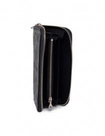 Gaiede portafogli in cuoio nero decorato in argento prezzo
