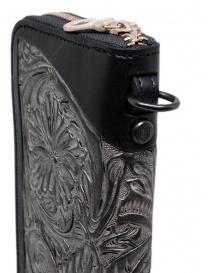 Gaiede portafogli in cuoio nero decorato in argento portafogli acquista online