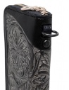 Gaiede black leather wallet decorated in silver ATCW001 BLACKxSILVER buy online