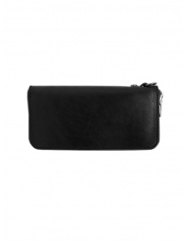 Gaiede black leather wallet decorated in natural leather