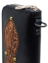 Gaiede black leather wallet decorated in natural leather ATCW003 BLACKxNATURAL buy online
