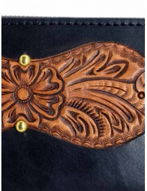 Gaiede black leather wallet decorated in natural leather wallets price