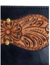 Gaiede black leather wallet decorated in natural leather price ATCW003 BLACKxNATURAL shop online