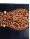 Gaiede portafogli in cuoio nero decorato in cuoio naturale prezzo ATCW003 BLACKxNATURALshop online