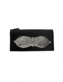 Wallets online: Gaiede silver and black leather wallet sachet