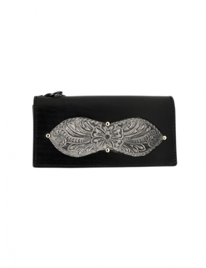 Gaiede silver and black leather wallet sachet ATCW005 BLACKxSILVER wallets online shopping