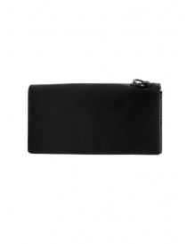 Gaiede silver and black leather wallet sachet