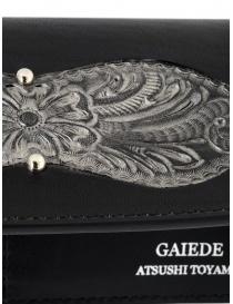 Gaiede bustina portafoglio cuoio nero e argento portafogli acquista online