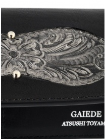 Gaiede silver and black leather wallet sachet wallets buy online