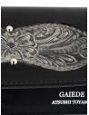Gaiede silver and black leather wallet sachet ATCW005 BLACKxSILVER buy online