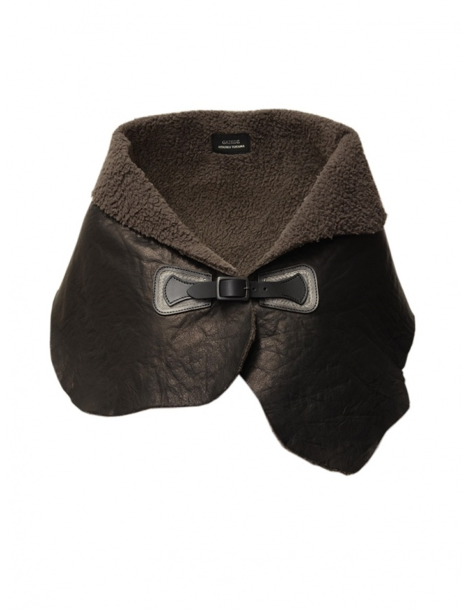 Gaiede shawl in deer leather ATCC002 BLACKxSILVER scarves online shopping