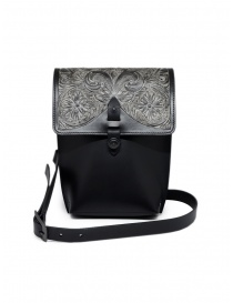 Bags online: Gaiede leather bag with flap decorated in silver