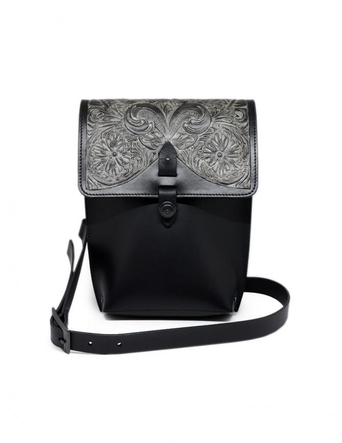 Gaiede borsa in pelle con patta decorata in argento ATCB002 BLACKxSILVER borse online shopping
