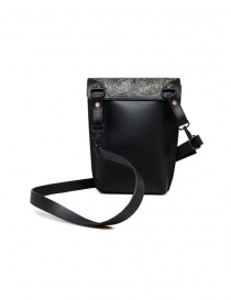 Gaiede leather bag with flap decorated in silver price