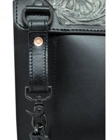 Gaiede borsa in pelle con patta decorata in argento borse acquista online