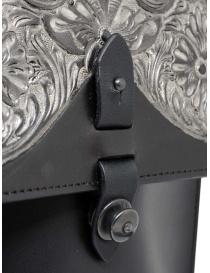 Gaiede borsa in pelle con patta decorata in argento acquista online prezzo