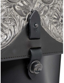 Gaiede leather bag with flap decorated in silver buy online price