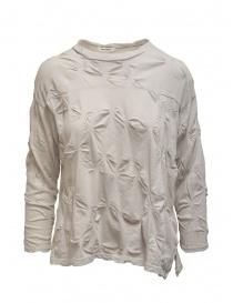 Camicie donna online: Plantation camicia con fiori in rilievo color sabbia