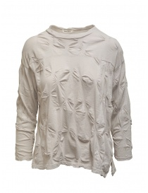 Plantation sand-colored shirt with relief flowers online