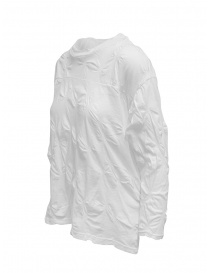 Plantation white shirt with raised flowers