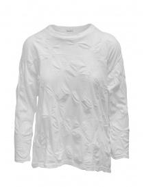 Camicie donna online: Plantation camicia bianca con fiori in rilievo