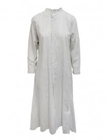Plantation abito a camicia lungo bianco a righe PL07FH029-02 WHITE order online