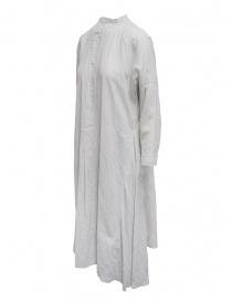 Plantation abito a camicia lungo bianco a righe
