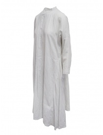 Plantation long striped white shirt dress