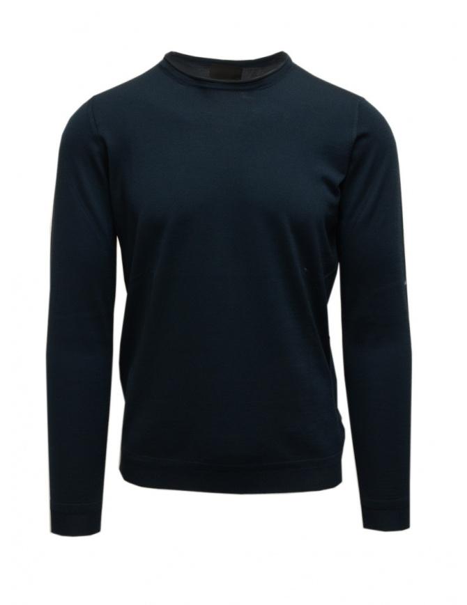 Goes Botanical blue-green long-sleeve sweater 101 4355 PETROLIO mens knitwear online shopping